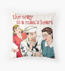 The way to a mans heart Throw Pillow