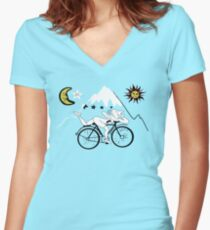 Bicycle Day Women's Fitted V-Neck T-Shirt