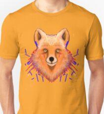 Smudge Grunge Fox Unisex T-Shirt