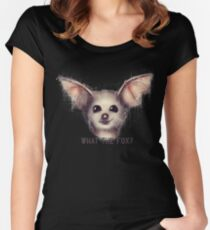 What the Fox? Women's Fitted Scoop T-Shirt