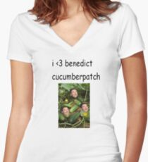 benedict cucumberpatch Women's Fitted V-Neck T-Shirt