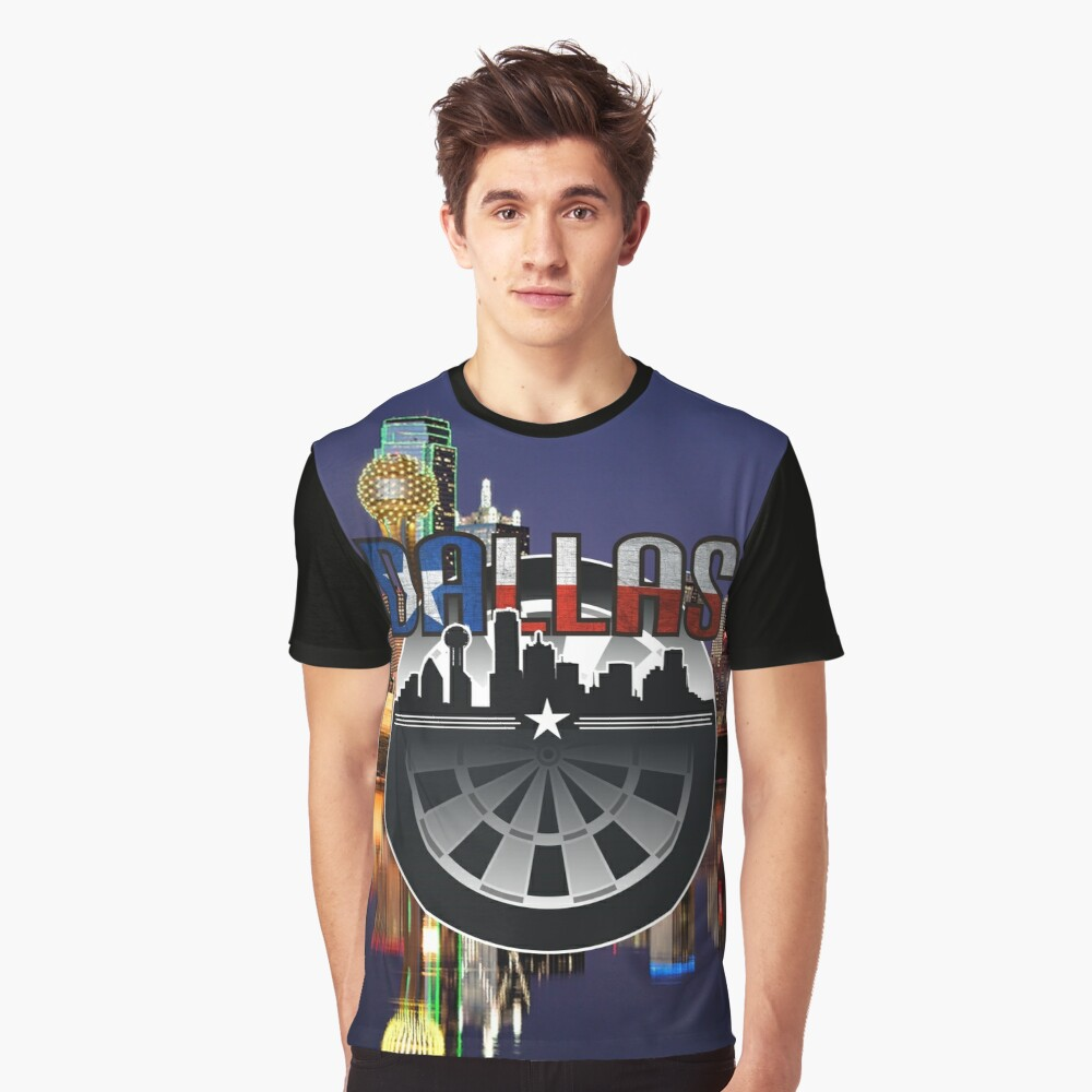 Darts Dallas Graphic T-Shirt Front