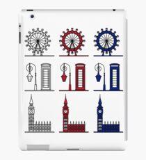 London Symbols Set - London Eye, Big Ben, Phone Booth iPad Case/Skin