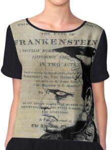 Frankenstein Book Page Illustration  Chiffon Top