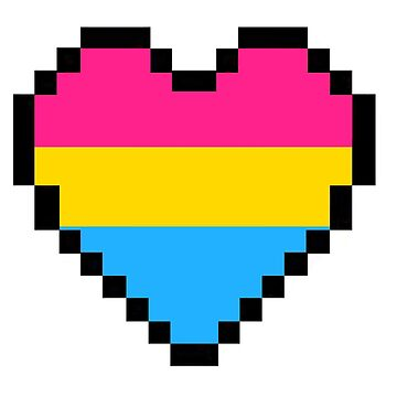 Pansexual pride heart by thekaym