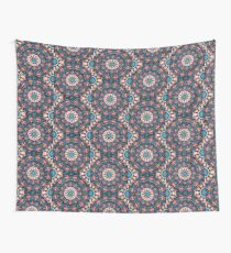 Red and Blue Kaleidoscope Wall Tapestry