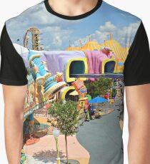 Seuss Landing Birds Eye View Graphic T-Shirt