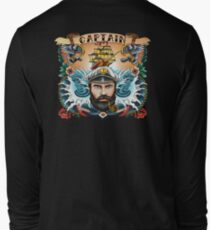 Boat Captain ~ Old School Tattoo Style ~ Back Print T-Shirt