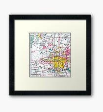 Denver Colorado Map Framed Print