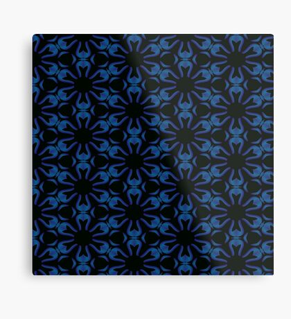 Blue Flowers by Julie Everhart Metal Print