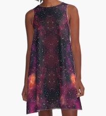 Blood Orchid Galaxy A-Line Dress