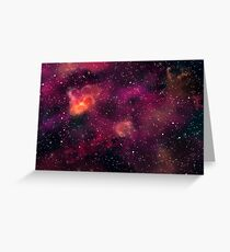 Blood Orchid Galaxy Greeting Card