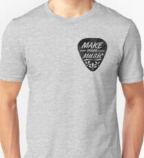 Make More Music - Plectrum Illustration Unisex T-Shirt