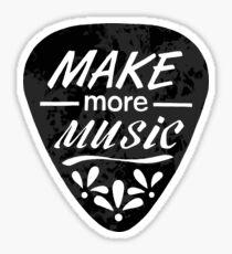 Make More Music - Plectrum Illustration Sticker