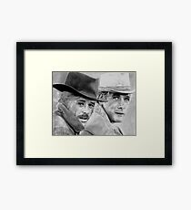 Butch and Sundance Framed Print