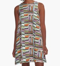 Stacked liquorice allsorts A-Line Dress