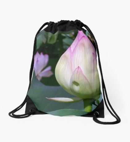 Lotus Bud Drawstring Bag