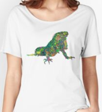 PSYCHEDLIC IGUANA ***find hidden gems in my portfolio*** Women's Relaxed Fit T-Shirt