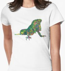 PSYCHEDLIC IGUANA ***find hidden gems in my portfolio*** Women's Fitted T-Shirt
