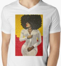 Black afro beauty with pearl dress  - La negra tomasa  T-Shirt