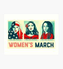 women's march official 2017 Art Print