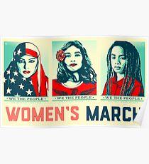 Marsch Offizielle 2017 der Frauen Poster