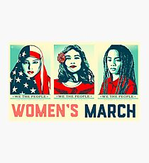 women's march official 2017 Photographic Print