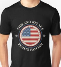 This Snowflake Fights Fascism (Anti-Trump) Unisex T-Shirt