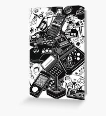 Old video game controllers Greeting Card