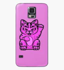 Lucky Cat - Fierce Pink Pussy Cat T-Shirt Case/Skin for Samsung Galaxy