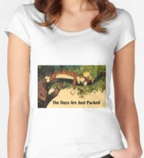 Calvin and Hobbes The Days Are Just Packed Women's Fitted Scoop T-Shirt