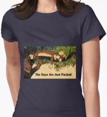 Calvin and Hobbes The Days Are Just Packed Womens Fitted T-Shirt