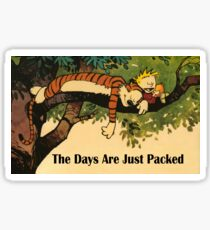 Calvin and Hobbes The Days Are Just Packed Sticker