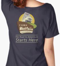 Camp Westfalia logo, large, back Women's Relaxed Fit T-Shirt