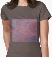Pink Candyfloss Cloud Womens Fitted T-Shirt