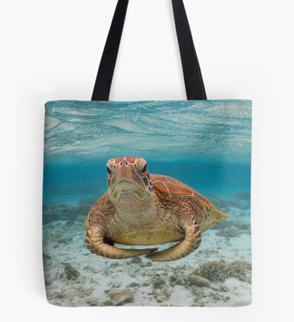 Turtle yoga pose Tote Bag
