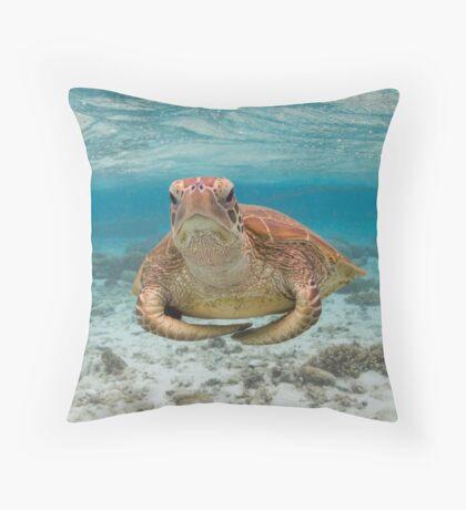 Turtle yoga pose Throw Pillow