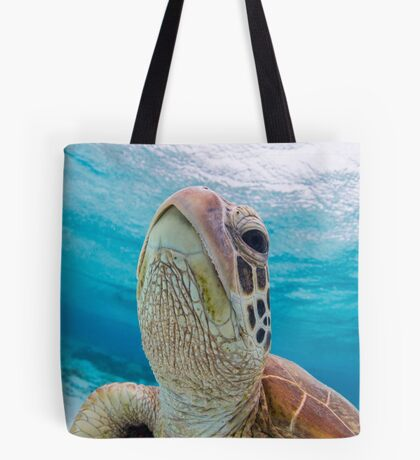 Turtle close-up Tote Bag