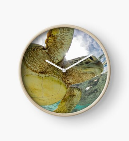 Hopeful turtle - print Clock