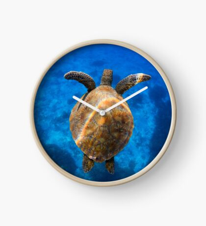 Cruising turtle - print Clock