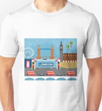 London, England - Skyline Illustration by Loose Petals Unisex T-Shirt