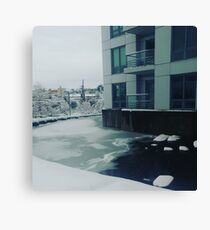 Water/Ice Canvas Print