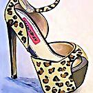 Cheetah Print Platform Heels Art by Arts4U