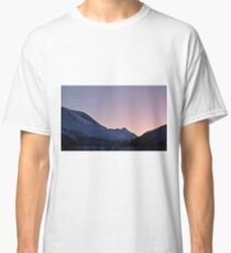 Mountains in snow Classic T-Shirt