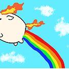 Rainbow Rapidash by schlarr