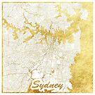 Sydney Karte Gold von HubertRoguski