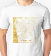 Adelaide Map Gold Unisex T-Shirt
