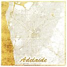 Adelaide Map Gold by HubertRoguski