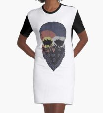 Colorado Flag Gangster Skull Graphic T-Shirt Graphic T-Shirt Dress