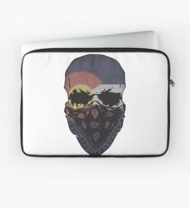 Colorado Flag Gangster Skull Graphic T-Shirt Laptop Sleeve
